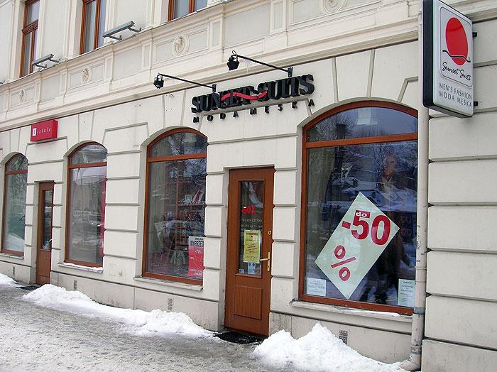 Salon Sunset Suits, ul. Krakowskie Przedmieście w Lublinie, rok 2004